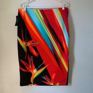 Worthington Brazilio Placement Tropical Skirt 14W